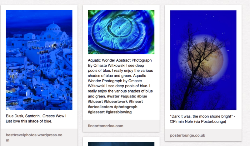 My Blue Pinterest Board