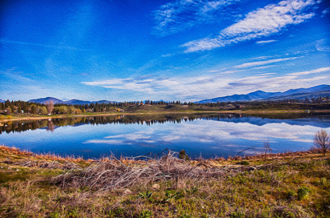 Big Twin Lake Methow Valley Landscape Photography by Omashte