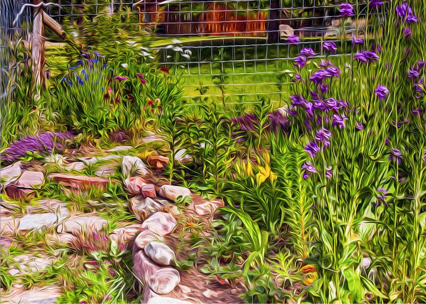 Country Garden Motivational Artwork by Omashte