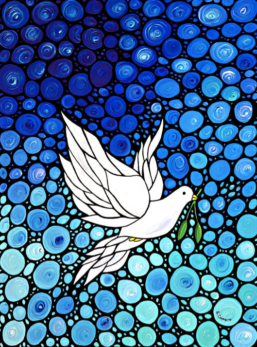 Peaceful Journey - White Dove Peace Art