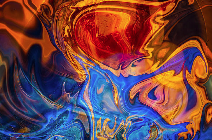 Fever Dreams Abstract Motivational Artwork by Omashte