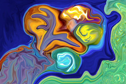 Contemplation Abstract Painting Motivational Artwork by Omashte