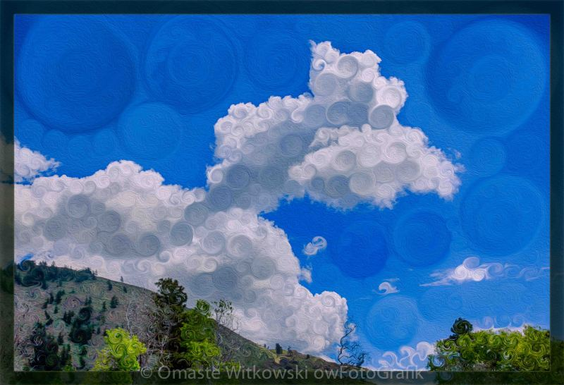 Clouds Loving a Pretty Landscape Painting Pleasures Omaste Witkowski owFotoGrafik.com
