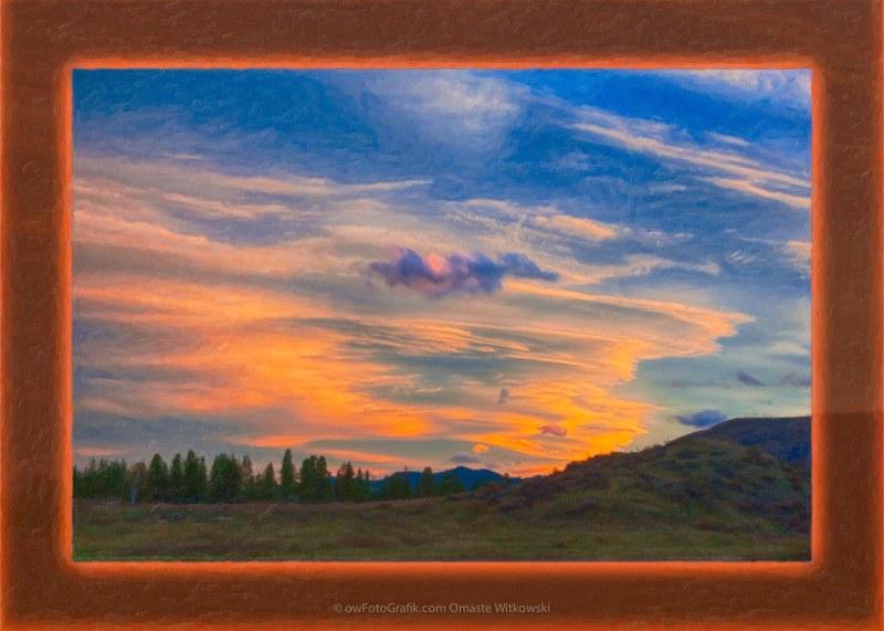 A Surprise Sunset Visit a Landscape Painting