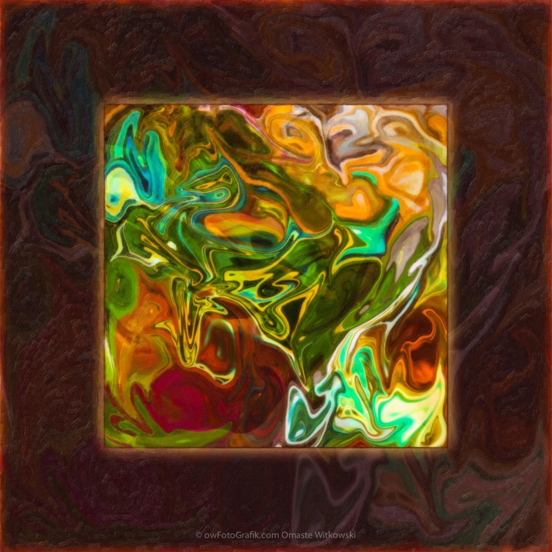 Vibrant Fall Colors an Abstract Painting