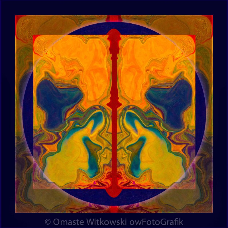 Prayer and Meditation Connecting Us to Our Home Abstract Healing Art Omaste Witkowski owFotoGrafik.com