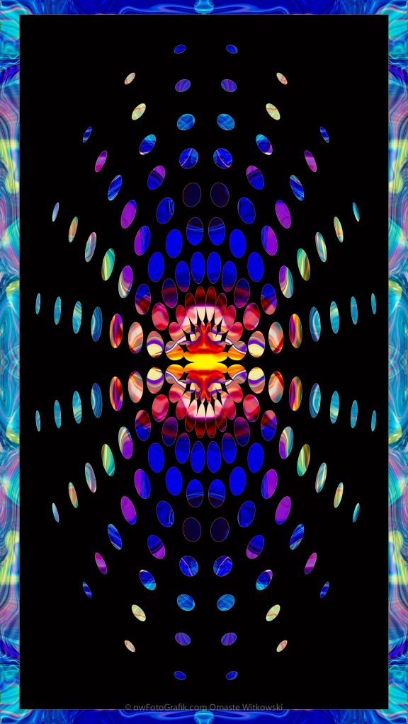 Eternal Rays of Hope Abstract Healing Artwork by Omaste Witkowski