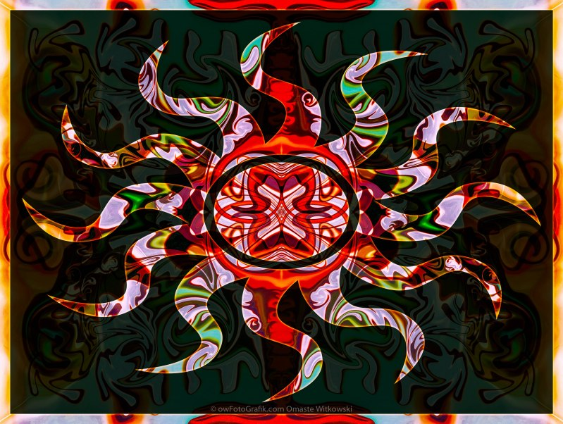 Mysterious Circumstances Abstract Sun Symbol Artwork