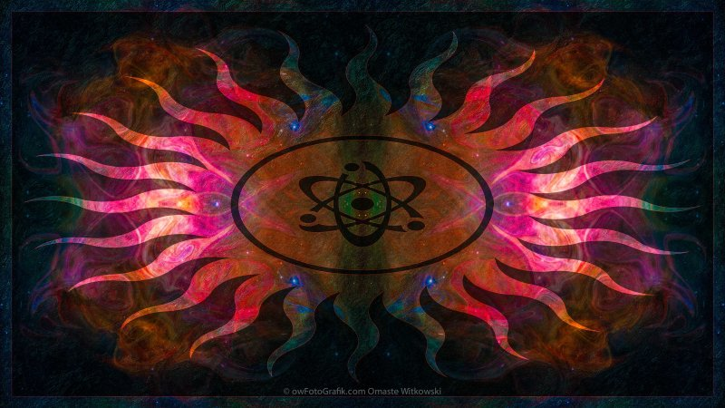 Pondering Nebulous Mysteries Abstract Outer Space Artwork