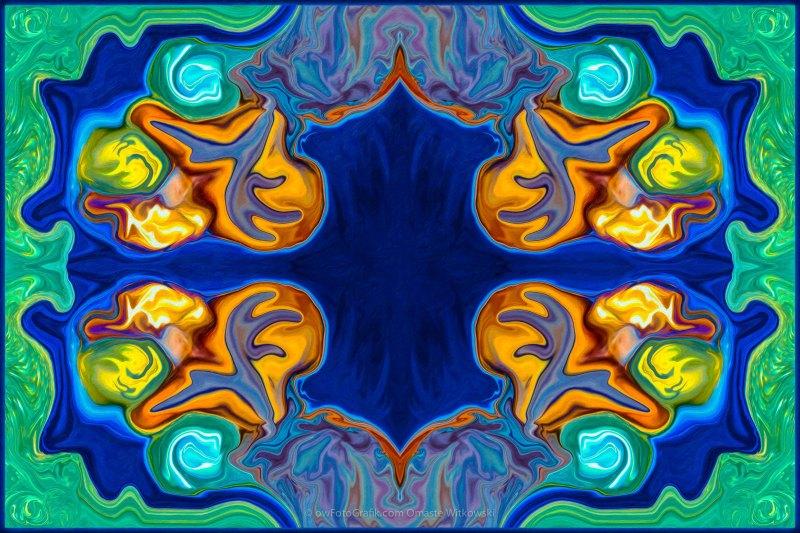 Destiny Unfolding Into An Abstract Pattern by Omaste Witkowski