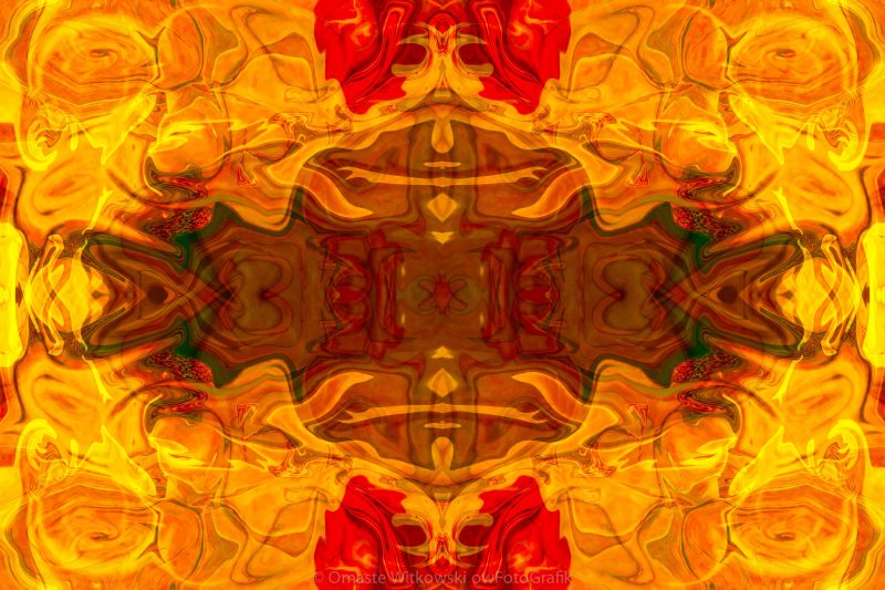 Fire in the Sky Abstract Pattern Artwork by Omaste Witkowski