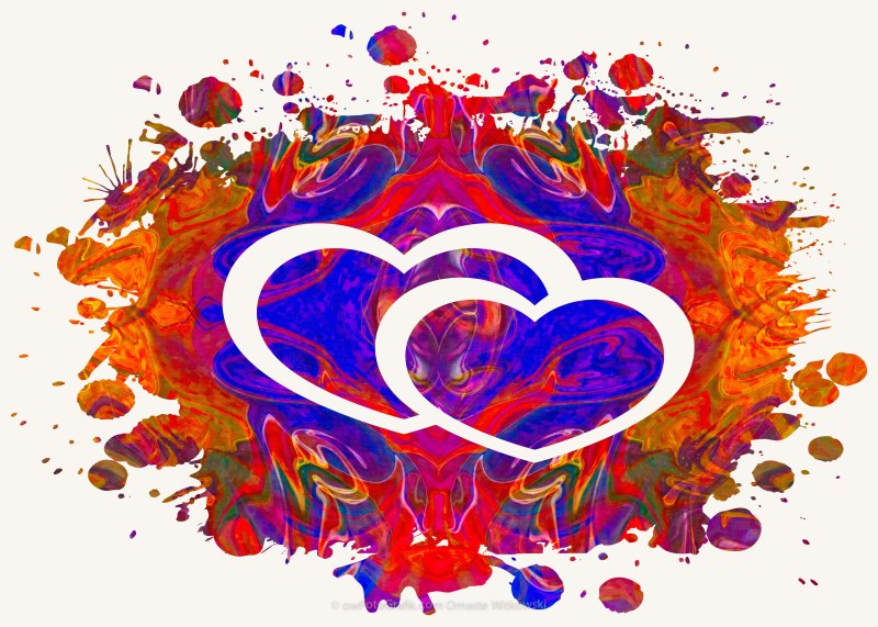 Love Can Be Messy Abstract Heart Art