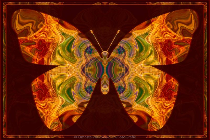 Spiritual Transformation Abstract Spiritual Artwork Omaste Witkowski owFotoGrafik.com