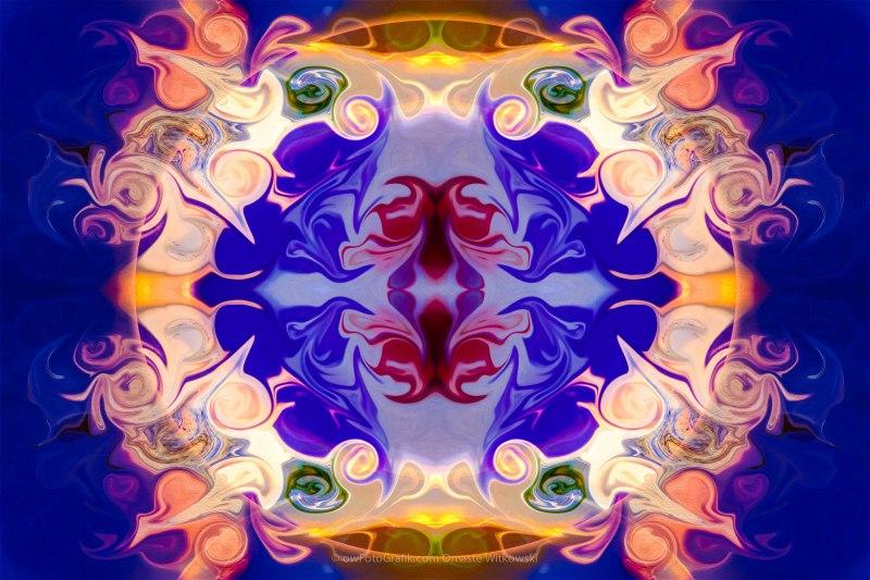 The Circle of Life Abstract Mandala Artwork by Omaste Witkowski