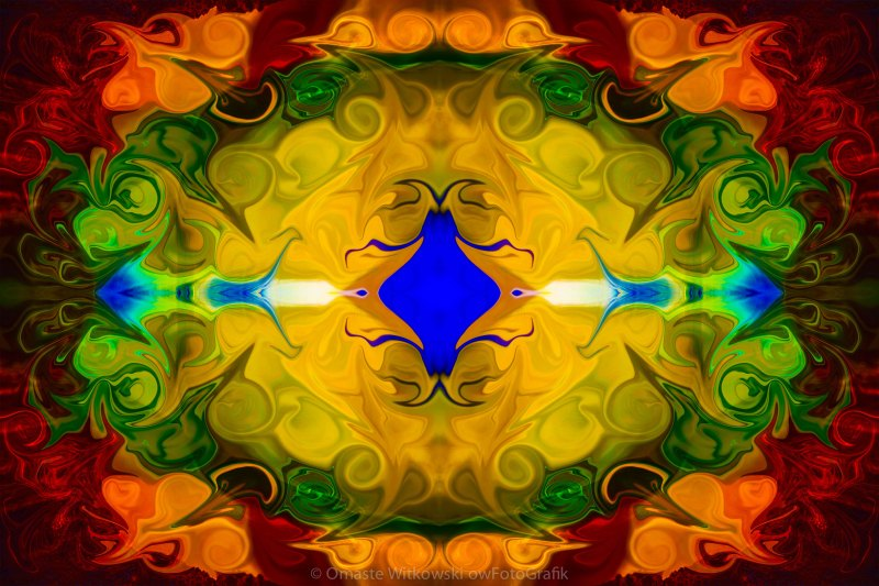 Centered In Peace Abstract Pattern Artwork by Omaste Witkowski owFotoGrafik.com