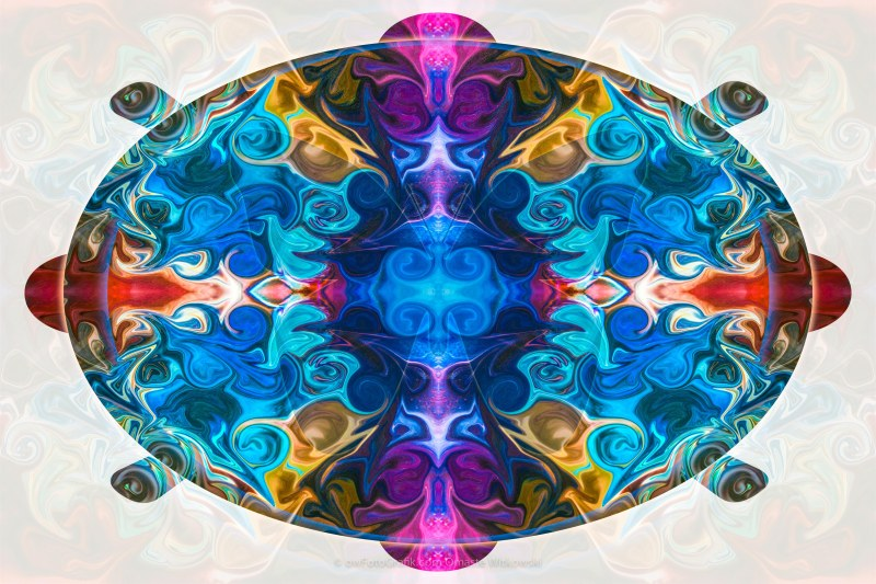 Cosmic Clocks and Ticking Tocks Abstract Shapes by Omaste Witkow