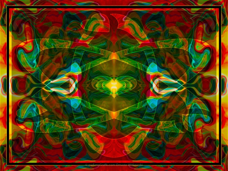 Nuclear Emotions Abstract Symbol Artwork by Omaste Witkowski owF