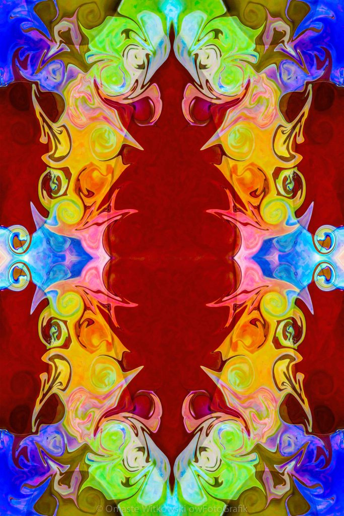 Rainbow Reminders of Life Abstract Pattern Artwork by Omaste Witkowski owFotoGrafik.com