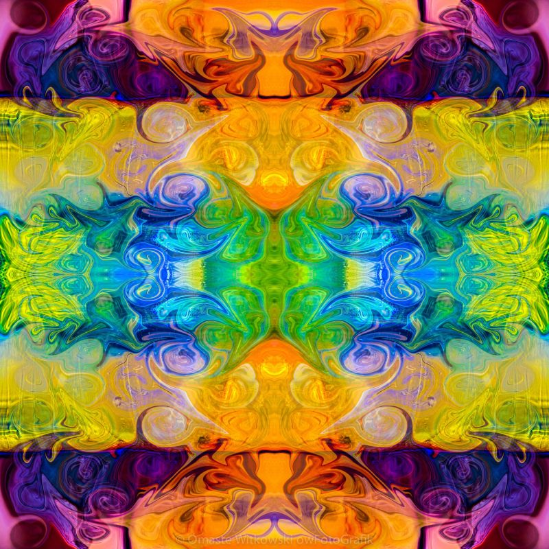 Rainbow Revolution Abstract Pattern Artwork by Omaste Witkowski owFotoGrafik.com