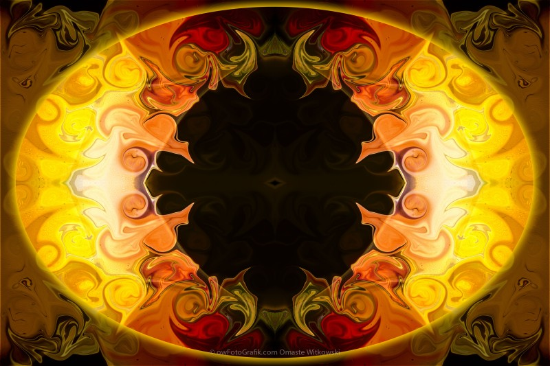 Undecided Bliss Abstract Healing Artwork by Omaste Witkowski