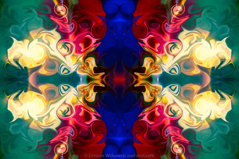 Welcoming A New Reality Abstract Pattern Artwork by Omaste Witkowski_