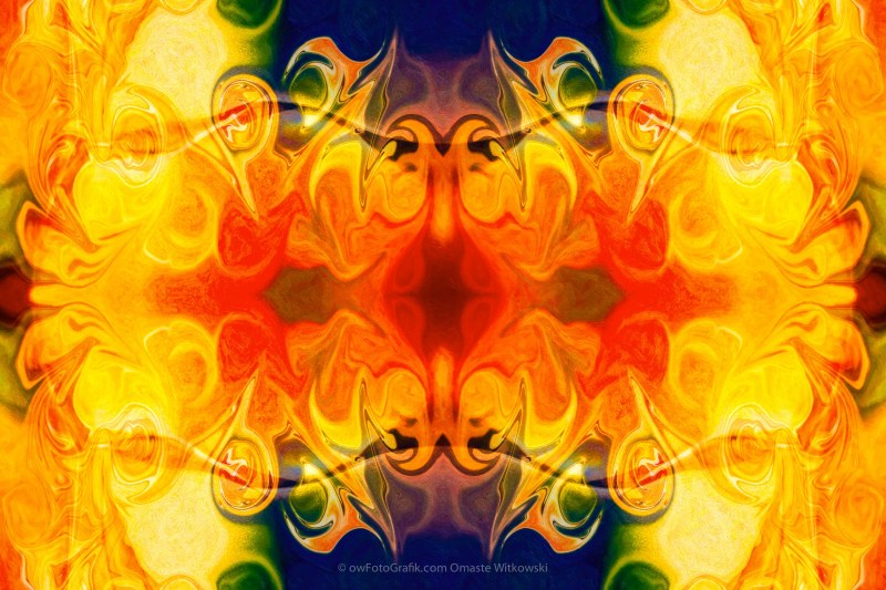 Fly With Me Abstract Pattern Artwork by Omaste Witkowski