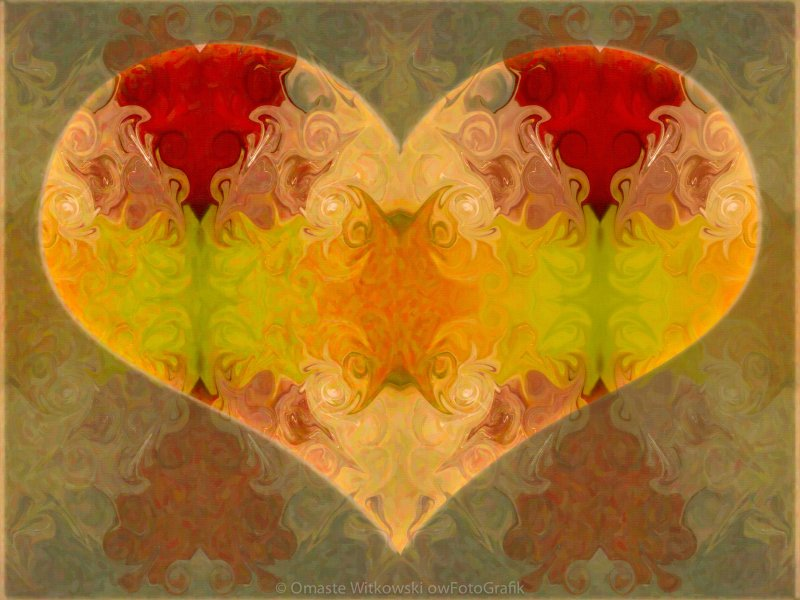 Layers of Loving Wisdom Abstract Symbol Artwork by Omaste Witkowski owFotoGrafik.com