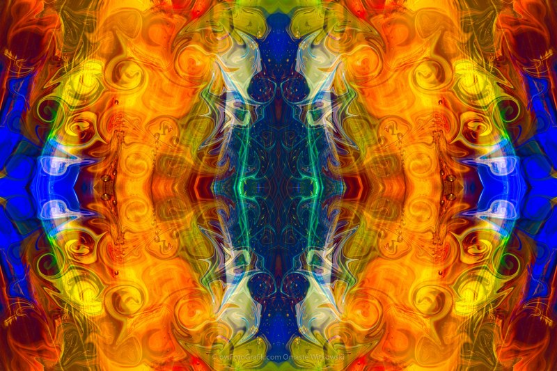 Making Love and Peace Abstract Pattern Artwork by Omaste Witkowski
