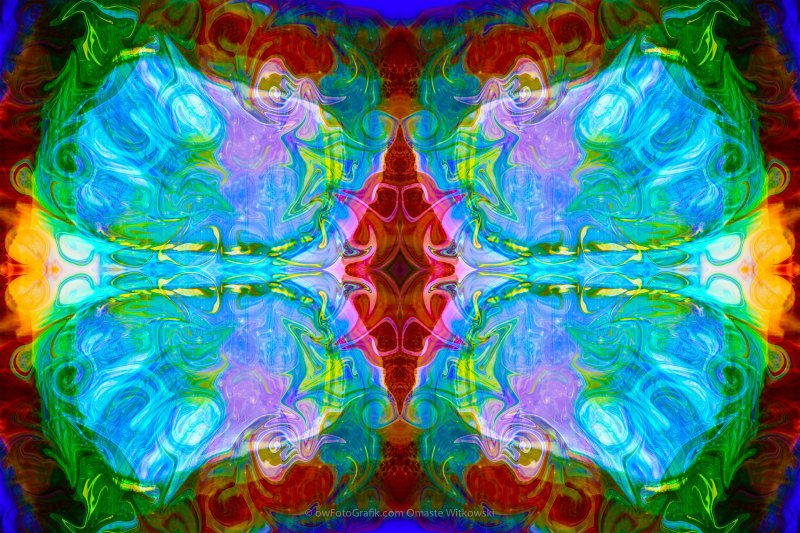 Wisdome and Mystery Abstract Pattern Artwork by Omaste Witkowski