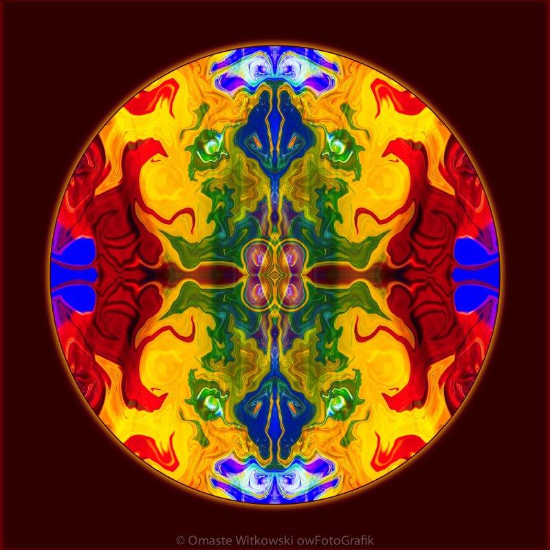 Rainbow Revelations Abstract Mandala Artwork by Omaste Witkowski owFotoGrafik.com