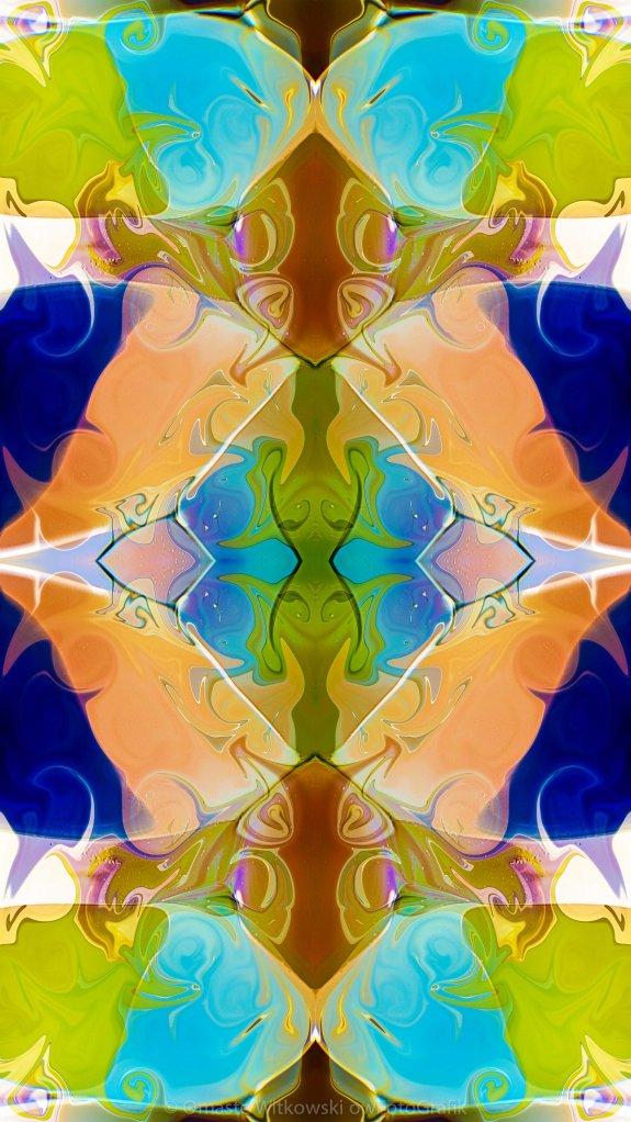 Blue Green Abstract Algea Patterned Artwork by Omaste WItkowski owFotoGrafik.com