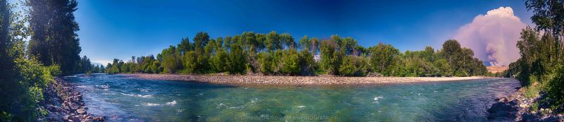 Carlton Complex and Methow River Panorama by Omaste Witkowski owFotoGrafik.com