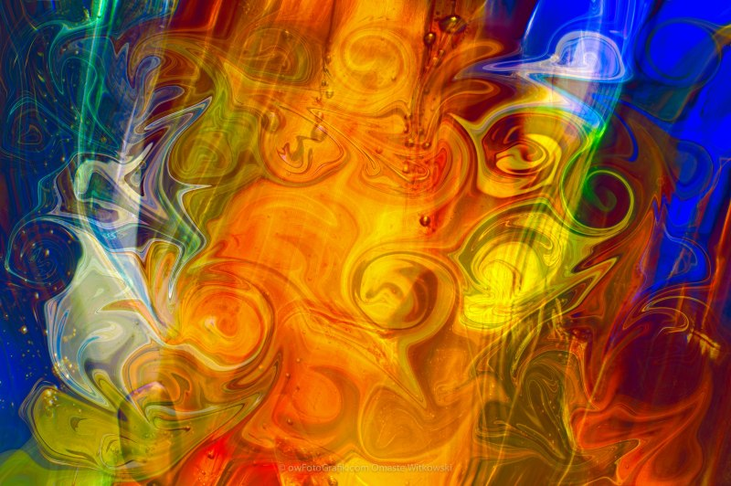 Playing With Bubbles Textured Abstract Artwork by Omaste Witkows