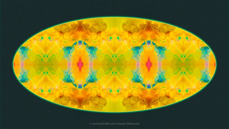 Colorful Pattern Of Existence Abstract Pattern Artwork by Omaste
