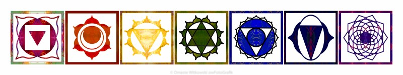 Energy And Spirituality Horizontal Abstract Chakra Art by Omaste Witkowski owFotoGrafik.com