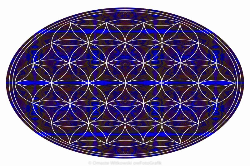 Flower Of Life Abstract Chakra Art by Omaste Witkowski owFotoGrafik.com