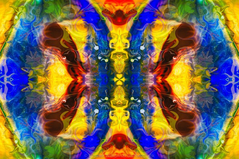 Mysterious Dimensions Abstract Pattern Artwork by Omaste Witkowski owFotoGrafik.com