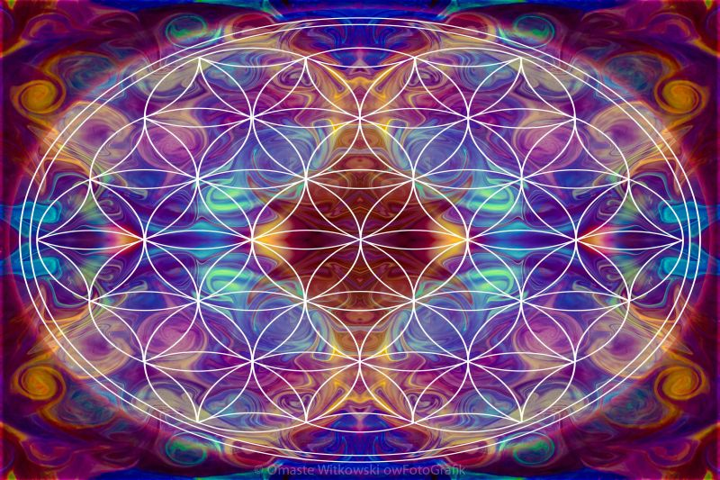 Sahasrara Abstract Chakra Art by Omaste Witkowski owFotoGrafik.com