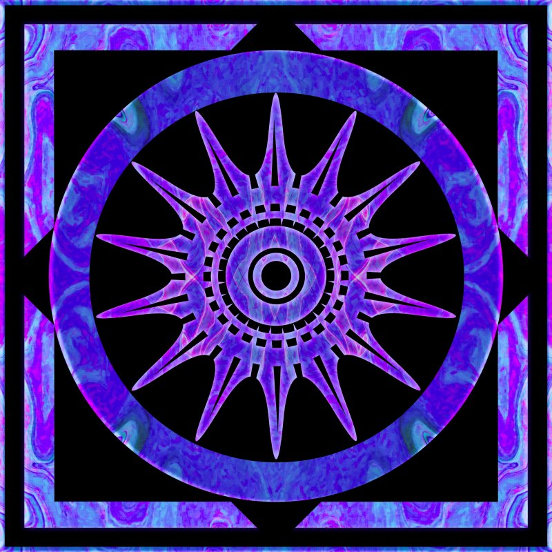 Starlit Purple Nights Abstract Mandala Artwork by Omaste Witkowski owPhotoGrafik.com