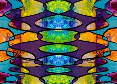 Hard Candy Fabric Art by Omaste Witkowski owFotoGrafik.com- Circles and Chakras