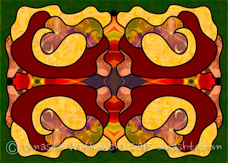 Exploring Consciousness Abstract Art by Omashte