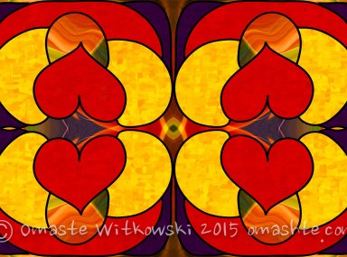 Unconditional Love Abstract Art by Omashte