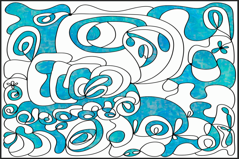 New Blue Motivational Artwork by Omashte