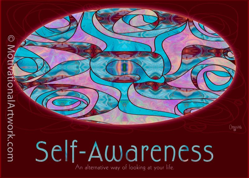 Self Awareness in Life Motivational Artwork by Omashte